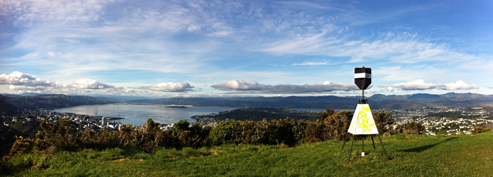 Wellington Harbour from Pol Hill, August 2012