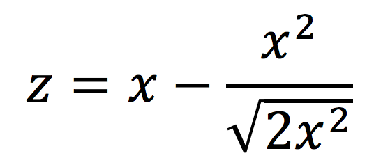 Algebraic representation of z